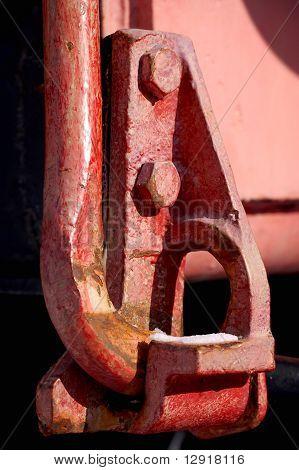 Componente de tren rojo
