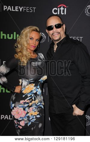 LOS ANGELES - MAR 19:  Coco Austin, Ice-T at the PaleyFest 2016 - Dick Wolf Salute at the Dolby Theater on March 19, 2016 in Los Angeles, CA
