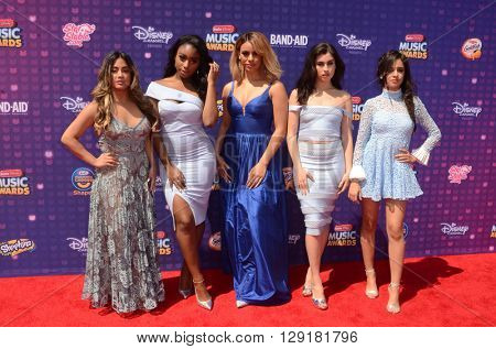 LOS ANGELES - APR 29:  Fifth Harmony at the 2016 Radio Disney Music Awards at the Microsoft Theater on April 29, 2016 in Los Angeles, CA