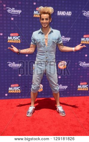 LOS ANGELES - APR 29:  Frankie J Grande at the 2016 Radio Disney Music Awards at the Microsoft Theater on April 29, 2016 in Los Angeles, CA