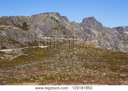 Serra da Estrela mountain view in Portugal