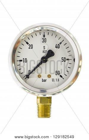 Pressure gauge range 0-60 Bar size 2.5