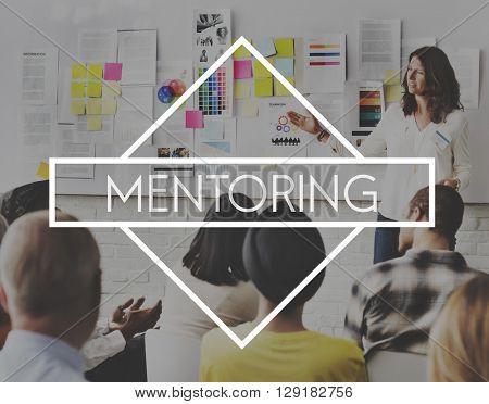 Mentoring Coaching Guiding Helping Teaching Concept