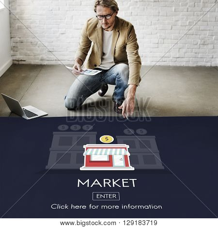 Market Launch Startup New Business Concept