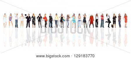 Corporate Teamwork on a Glass Floor