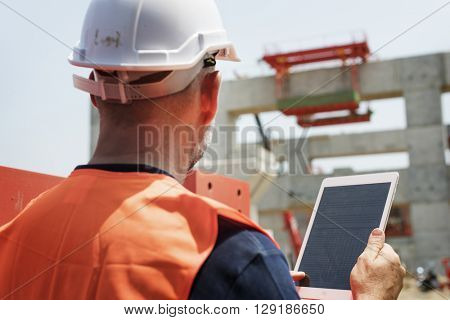 Construction Worker Planning Developer Concept