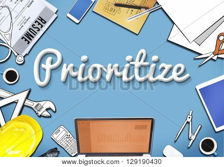 Prioritize Urgency Tasks Office Concept