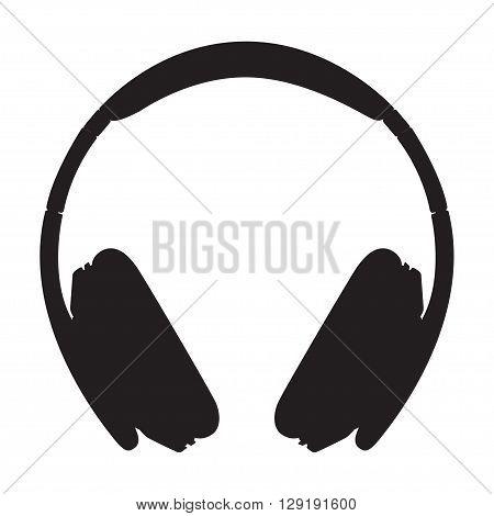 Headphone icon on white background, vector illustration, eps 10.