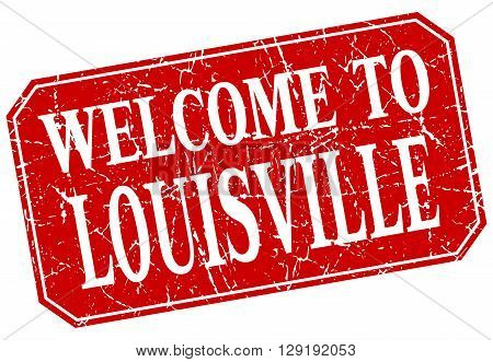welcome to Louisville red square grunge stamp