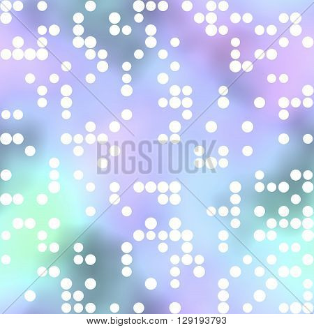 Colored background. White Circles pattern or wallpaper
