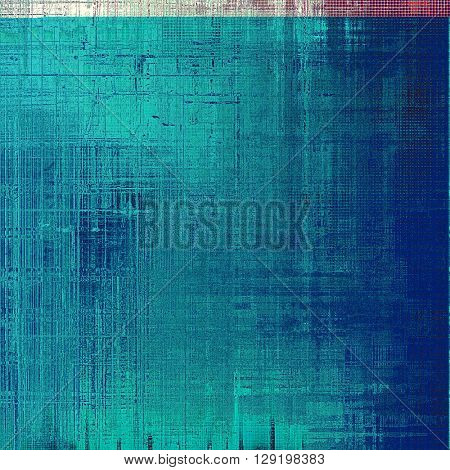 Background with dirty grunge texture, vintage style elements and different color patterns: blue; gray; red (orange); purple (violet); pink; white