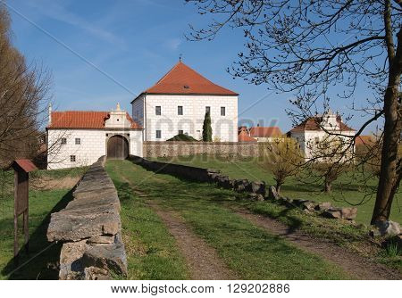 Renaissance water fort Novy Hradek Krcinov in Czech republic