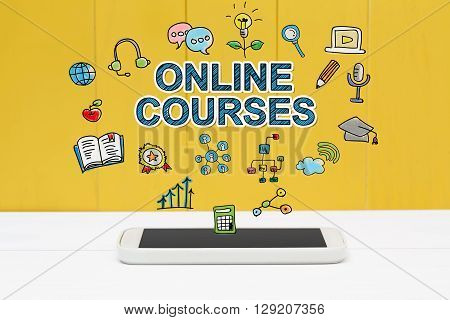 Online Courses Concept With Smartphone