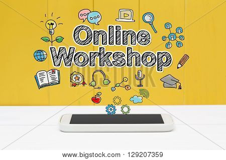 Online Workshop Concept With Smartphone