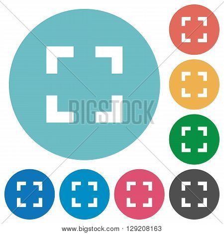 Flat selector tool icon set on round color background.