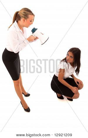 Business Woman Megaphone