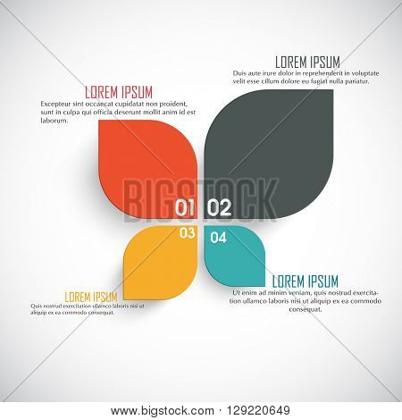 Creative colorful infographic elements on shiny background for Business.