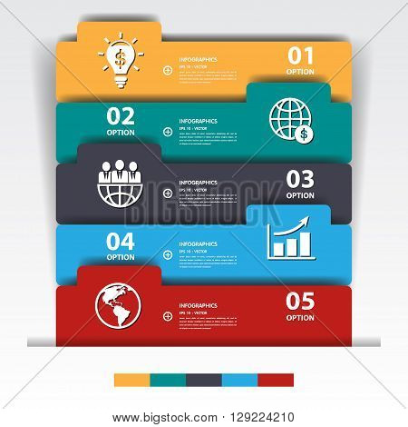 Design Multicolour Number Banners Template/graphic Or Website.vector Eps10.