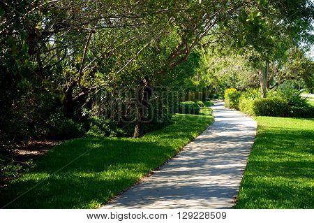 Beautiful Manicured Bike Path