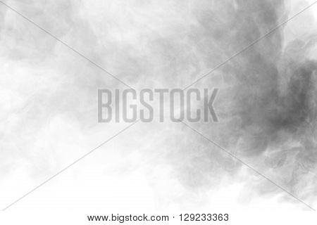 Abstract art. Grey smoke hookah on a white background. Background for Halloween. Texture fog. Design element. The concept of aromatherapy. poster