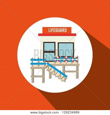lifeguard tower design, vector illustration eps10 graphic