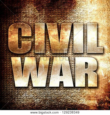 civil war, rust writing on a grunge background