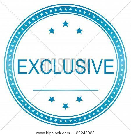 Blue vector exclusive sticker exclusive illustration exclusive