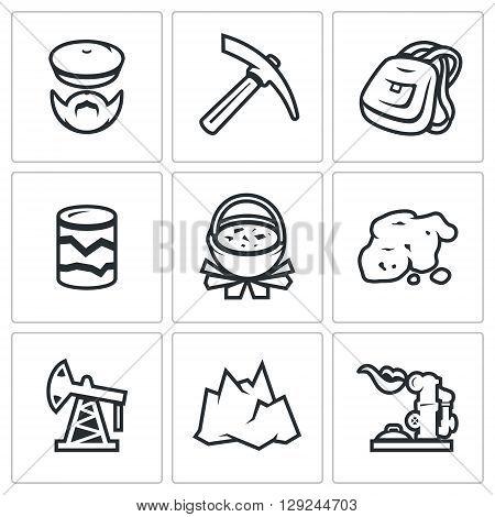Explorer, Kirk, Backpack, Pit, Pot of food, Breed, Oil Derrick, Mountain, Pipeline