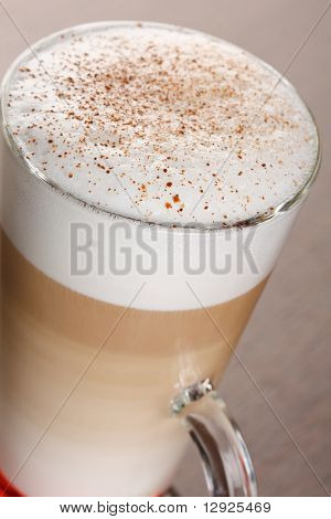 Coffee Latte in a glass