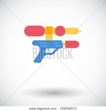 Gun toy icon. Thin line flat vector related icon for web and mobile applications. It can be used as - logo, pictogram, icon, infographic element. Vector Illustration.