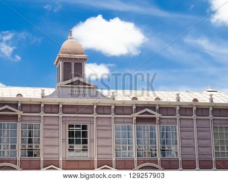 SAN JOSE, COSTA RICA - April 22:  Metal Edifice located in  San Jose  Downtown, it was prefabricated in Belgium, then shipped piece by piece to San José. The building was and still is used as a school April 22, 2016 in San Jose.