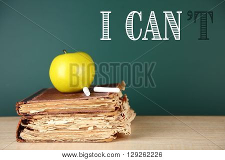 Words I cant transformed into I can on blackboard