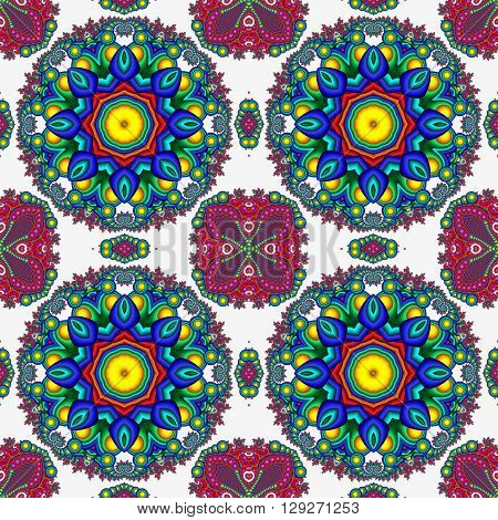 Colorful abstract seamless pattern. Artwork for creative design