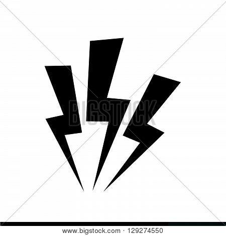 an images of Lightning icon illustration design