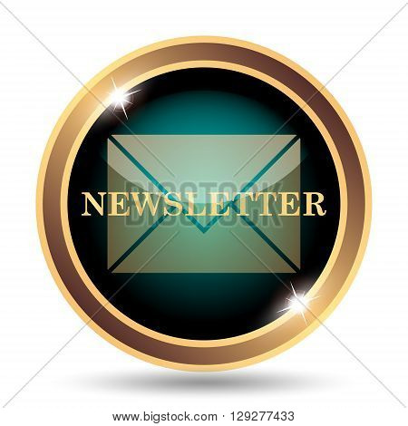 Newsletter icon. Internet button on white background. poster