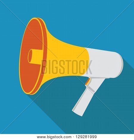 Megaphone. Loudspeaker as announcement icon. Vector illustration.