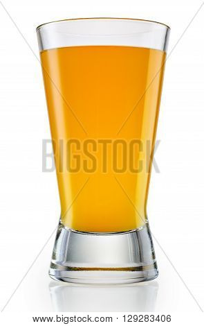 Glass of orange juice on white background. With clipping path