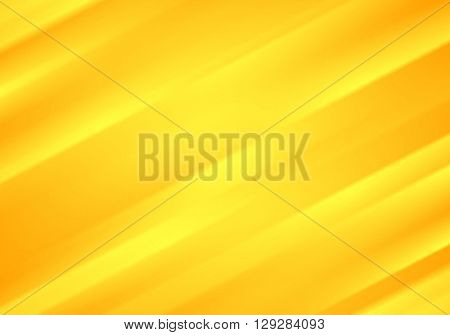 Bright yellow blurred stripes abstract vector tech background