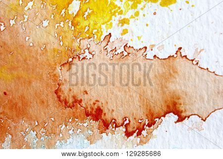 Orange and Yellow Watercolour Background 7