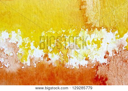 Orange and Yellow Watercolour Background 3