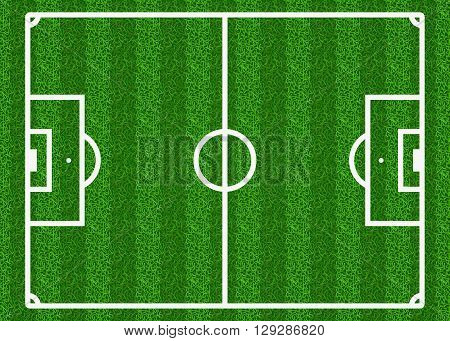 European football, soccer vector field. Football field, sport field play, green field, soccer field illustration