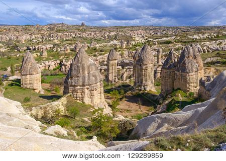 Famous Love valley in Cappadocia, Turkey