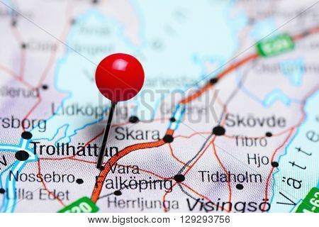 Vara pinned on a map of Sweden