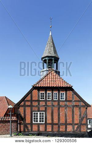 City hall of Ebeltoft in Mols region, Denmark poster