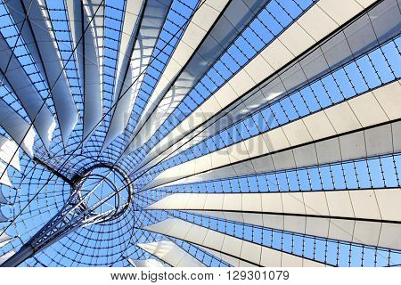 Roof construction  - abstract architectural background