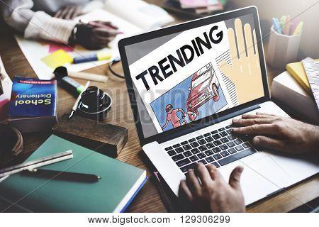 Update Trending Breaking News Report Information Concept