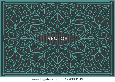 Vector Poster Design Template And Greeting Card With Copy Space For Text Or Title
