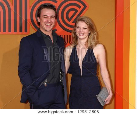 LOS ANGELES - MAY 10:  Ben O'Toole, Cariba Heine at the The Nice Guys Premiere at the TCL Chinese Theater IMAX on May 10, 2016 in Los Angeles, CA