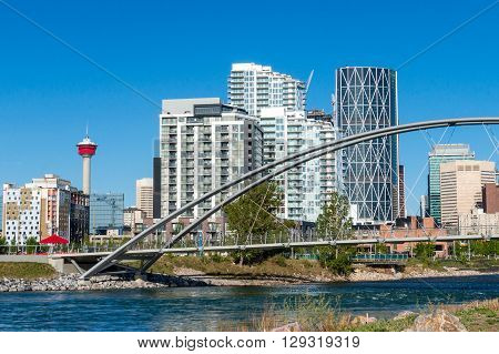 Calgary Downtown As Viewed From St. Patrick's Island