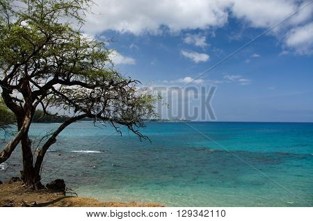 Variety Of Blue Colors To The South Of Hapuna